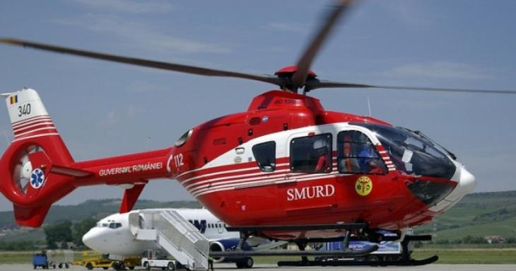 Elicopter SMURD căzut în lacul Siutghiol