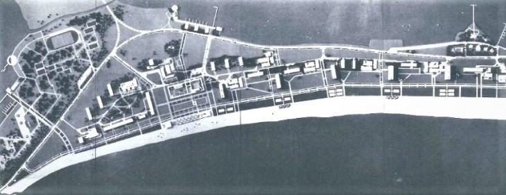 Macheta planului de sistematizare a Stațiunii Mamaia (1958)