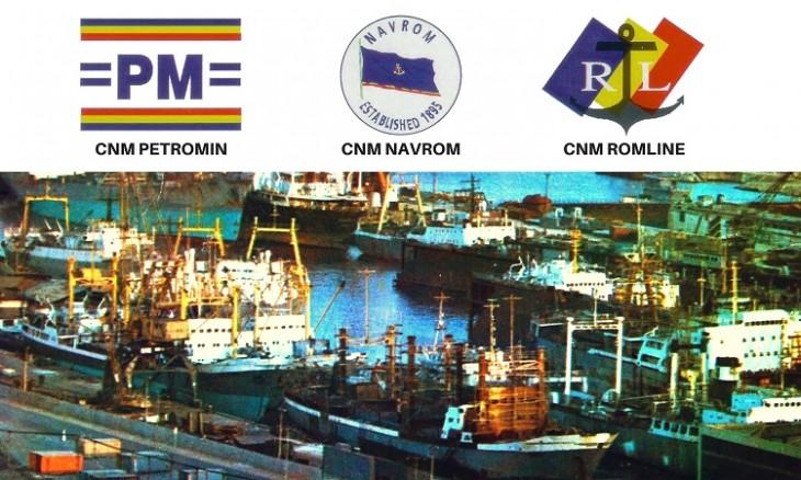 Companiile de navigație maritimă PETROMIN NAVROM și ROMLINE