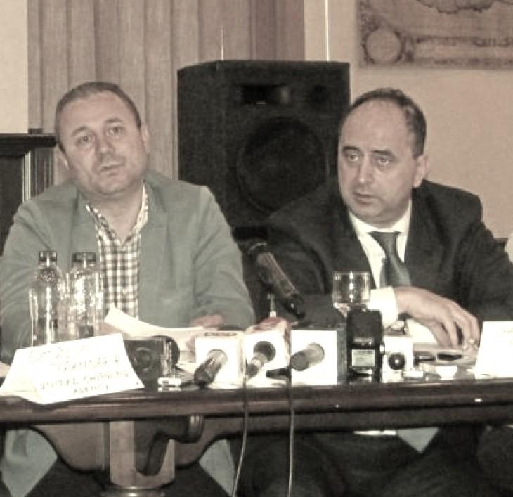 Mircea Burlacu (stânga) și Gabriel Comănescu (GSP)