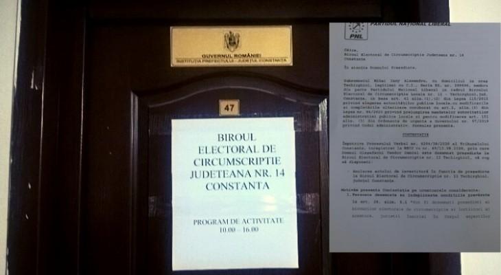 PNL Techirghiol solicită schimbarea lui Oleșefschi de la conducerea Biroului Electoral de Circumscripție