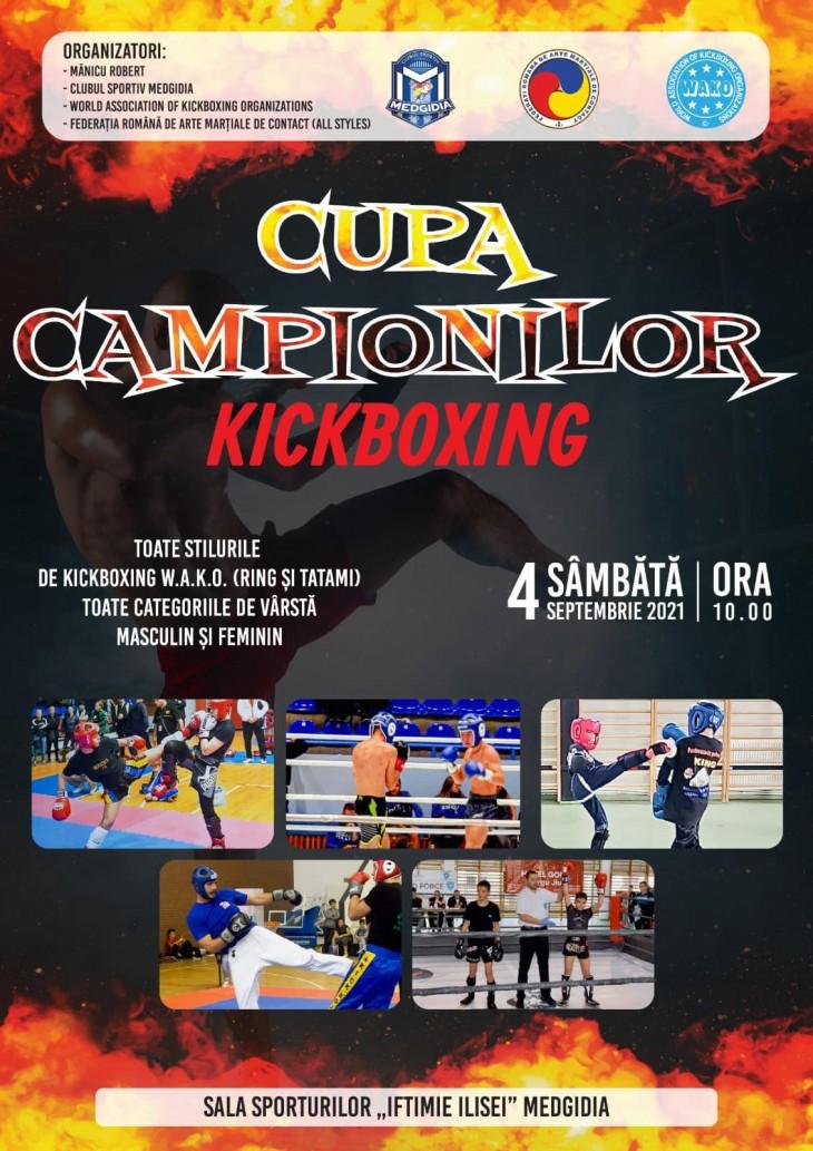 """Clubul Sportiv Medgidia organizează """"Cupa Campionilor la Kickboxing"""""""
