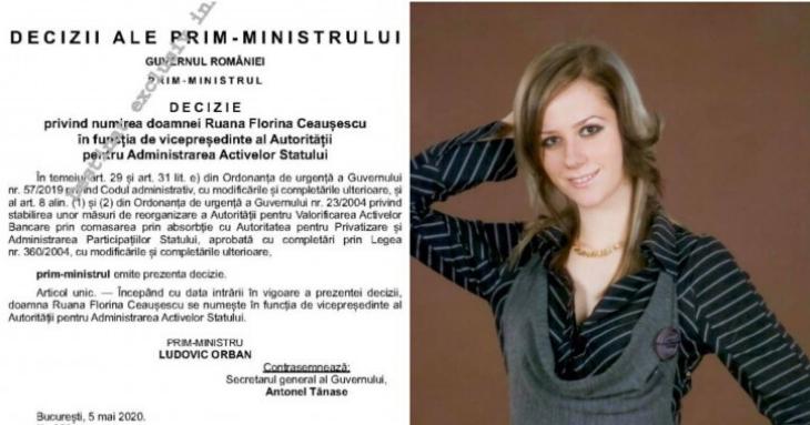 Ruana Ceaușescu de la PMP Constanța, numită vicepreședinte AAAS
