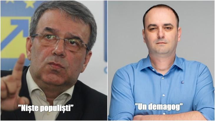 """Iubire nebună între Vergil Chițac și USR. """"Niște populiști"""" versus """"Demagogie, aroganță, autosuficiență"""""""