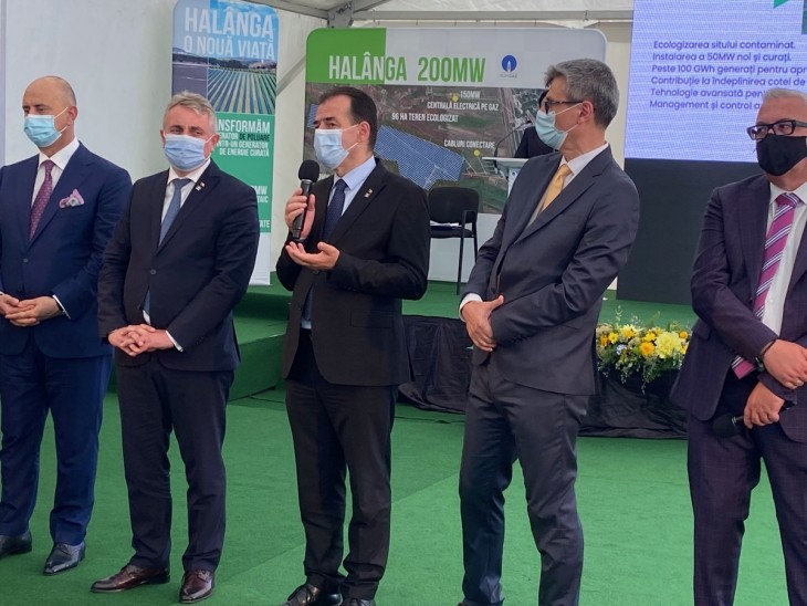 De la stânga - Gabriel Comănescu (GSP), Lucian Bode, Ludovic Orban, Virgil Popescu (Ministrul Energiei)