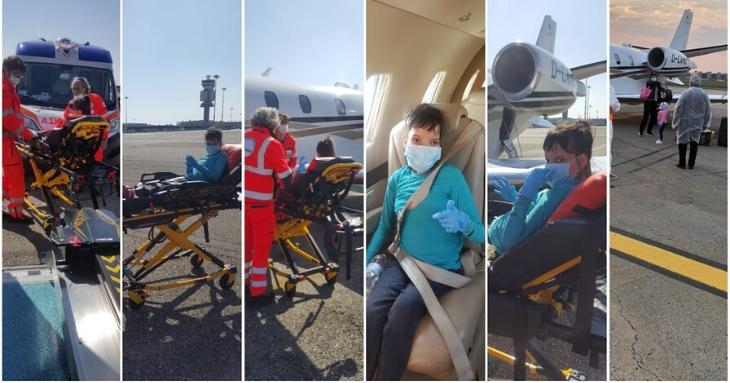 Omul de afaceri constănțean Grigore Comănescu a plătit un avion privat pentru aducerea din Italia a doi copii cu afecțiuni grave