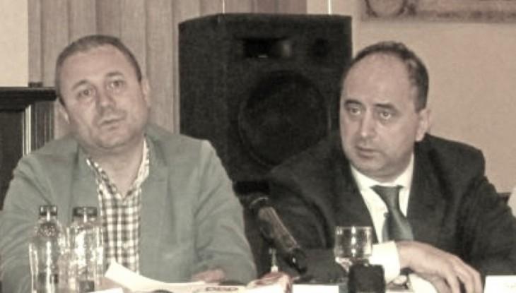 Sindicalistul Mircea Burlacu, alături de patronul GSP, Gabriel Comănescu
