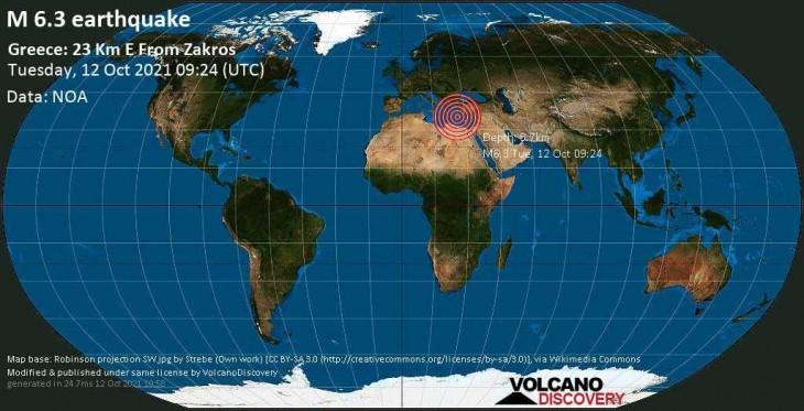 Cutremur puternic de suprafață în Grecia