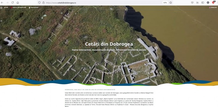 A fost lansat website-ul care prezintă, interactiv, 12 cetăți din Dobrogea