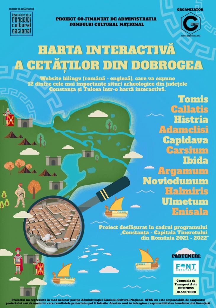 12 cetăți din Dobrogea vor fi prezentate pe un site specializat, interactiv, într-un proiect cultural inedit.
