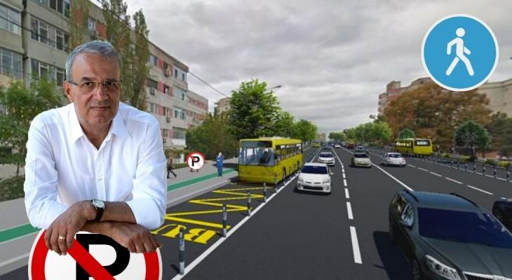 Reabilitarea bulevardului Lăpușneanu nu prevede parcări. Constanța devine oraș pietonal?