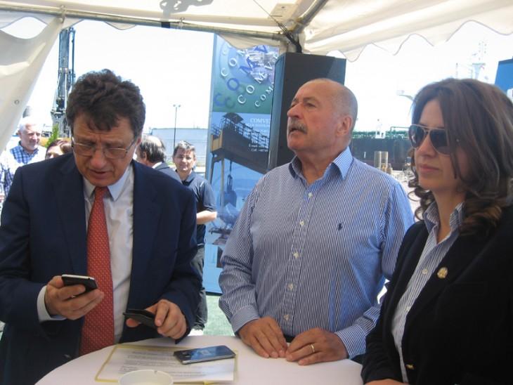 Viorel Panaint, Corneliu Idu și Daniela Șerban (CN APM)