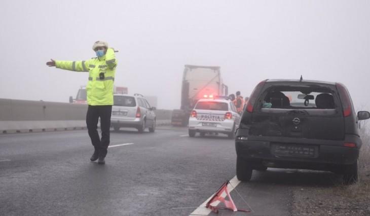 Accident în lanț pe Autostrada Soarelui. 20 de mașini s-au tamponat