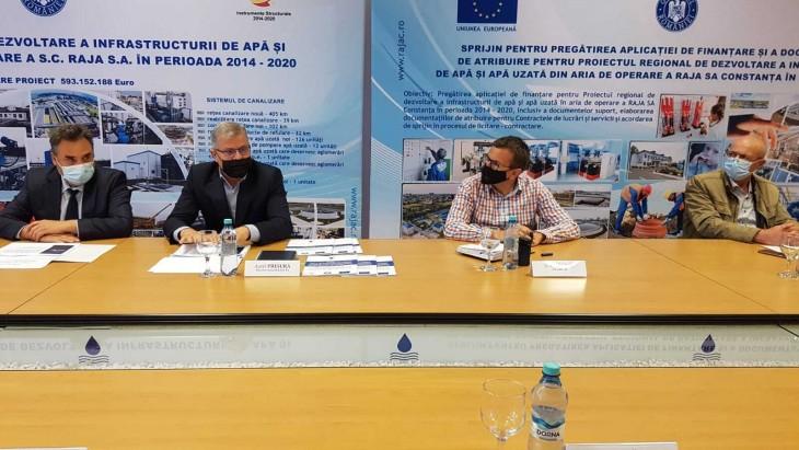 Se continuă  investițiile cu fonduri europene în infrastructura de apă  și apă uzată din județul Constanța