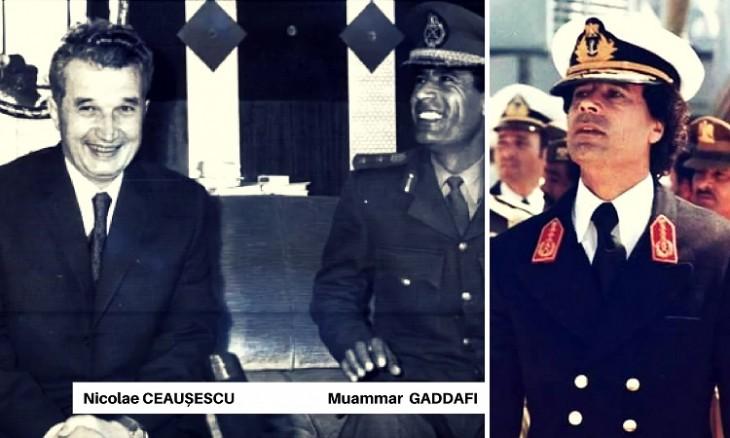 Nicolae CEAUSESCU si Muammar GADDAFI