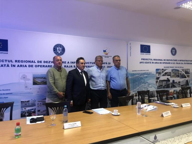 Se continuă  investițiile cu fonduri europene în infrastructura de apă  și apă uzată din județele Constanța și Dâmbovița