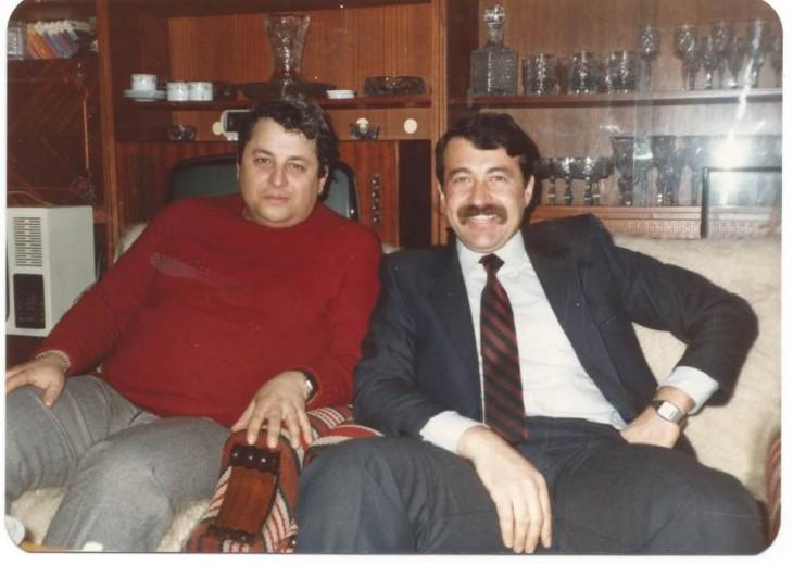 CLC Corneliu Mironescu alături de CLC Corneliu Idu (dreapta) - coleția familiei Mironescu