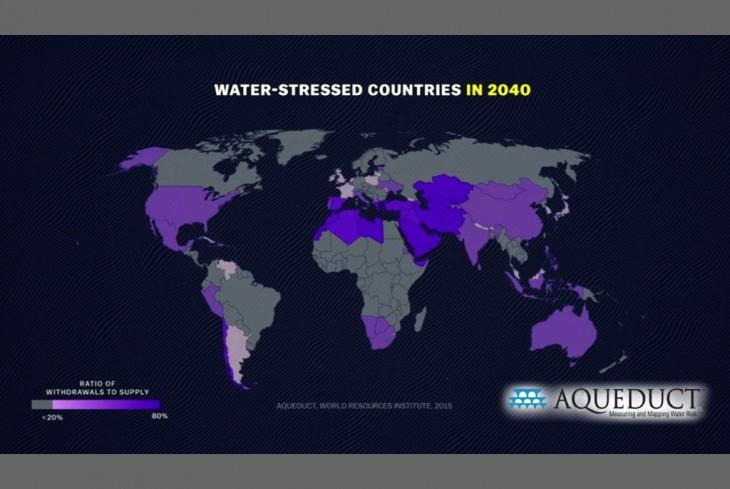 Criza de apă de peste 20 de ani – Sursa : Institutul Mondial al Resurselor – 2015