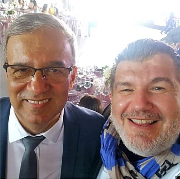 Vergil Chițac alături de unul dintre invitați