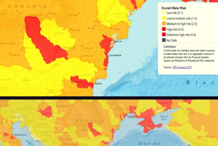 Harta Riscului asociat lipsei de Apă – Institutul Mondial al Resurselor Naturale