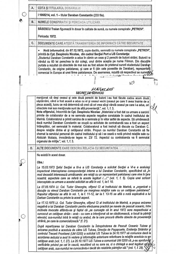 Nota informativă - document CNSAS